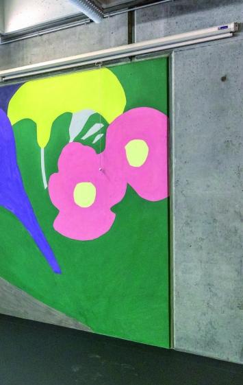Roman Candio, Farbzeichen auf Beton, Kantonsschule Hardwald, Olten