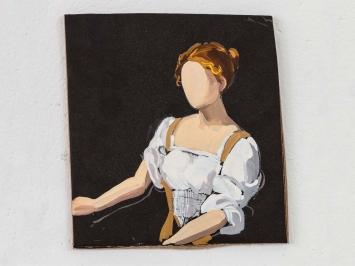 Gideon Rubin Judith and Holofernes, 2021 gouache on cardboard 14,5 × 13,5 cm