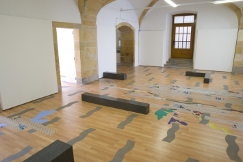 Sara da Silva Santos, ‹Lagoa rasa›, Centre d'art contemporain Yverdon-les-Bains, 2018 (Ausstellungsansicht).Foto: Claude Cortinovis