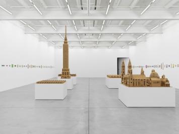 Jean-Frédéric Schnyder, Ausstellungsansicht Galerie Eva Presenhuber,Zürich, 2019. Foto: Stefan Altenburger