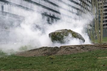 Schumacher – Clavadetscher , «Rauchstein», 2005/2016, Stadtspital Triemli, Fachstelle Kunst und Bau, Amt für Hochbauten, Stadt Zürich, Foto: ©Keystone/Christian Beutler