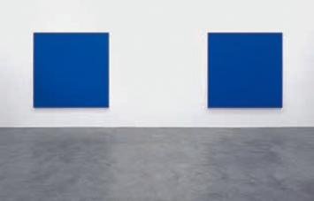 Rudolf de Crignis · Painting No. 01 38, 2001, Öl auf Leinwand, 152,4x152,4cm (l) und Painting No. 97 11, 1997, Öl auf Leinwand, 76,2x76,2cm (r), Paul Ege Art Collection.Foto: Bernhard Strauss