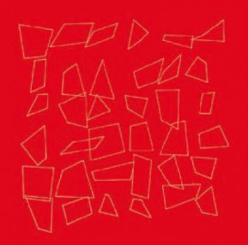 Vera Molnar, eine Reproduktion von 36 Carrés, einer Bewegungsstudie aus 1986, Courtesy Digital Arts Association