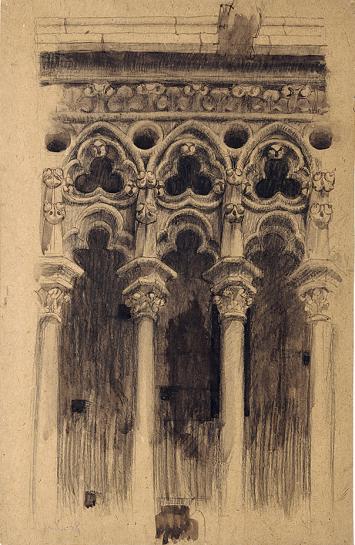 Le Corbusier · Notre-Dame de Paris, obere Galerie, 1908 ©ProLitteris