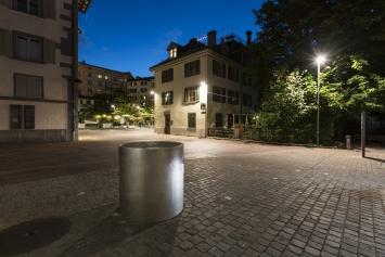 Roman Signer,Installation bei der Steinach / Wirbelfallschacht, 1998, Kunst im öffentlichen Raum der Stadt St.Gallen, Fotografie: Anna-Tina Eberhard, St.Gallen