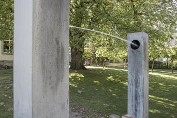 Roman Signer, Wasserobjekt, 1984, Kunst im öffentlichen Raum der Stadt St.Gallen, Foto: Anna-Tina Eberhard, St.Gallen