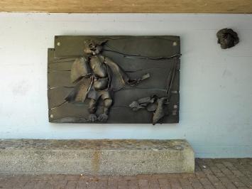 Silvio Mattioli, «König Ubu», 1965, Gemeinschaftszentrum Buchegg, Fachstelle Kunst und Bau, Amt für Hochbauten, Stadt Zürich, Foto: Marc Lendorff