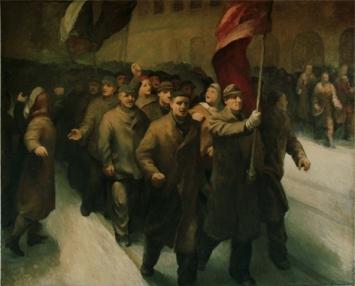 Karel Solarik (1915–2007)23. Februar 1948 in Prag, 1952Öl auf Leinwand, 183 x 230 cm