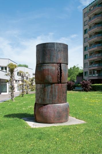 Giuseppe Spagnulo,Turris, 1992,Plastik, Stahl, H 320 cm, D 150 cm, Herti 5, General-Guisan-Strasse 22, Eigentum Stadt Zug