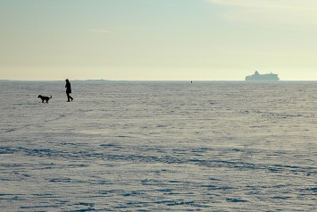 Helsinki, Kruunuvuorenselkä, 23. Februar.Foto: SH