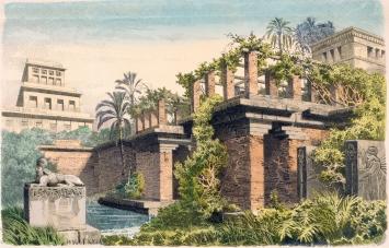 Hängende Gärten von Babylon, Münchner Bilderbogen, Nr. 927, Credit AKG Images