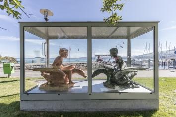 Simon Starling, Fountain, 2019, Teil 2 von 3, Standort Seepromenade Goldach, Kunst im öffentlichen Raum der Stadt St.Gallen, Fotografie: Anna-Tina Eberhard, St.Gallen
