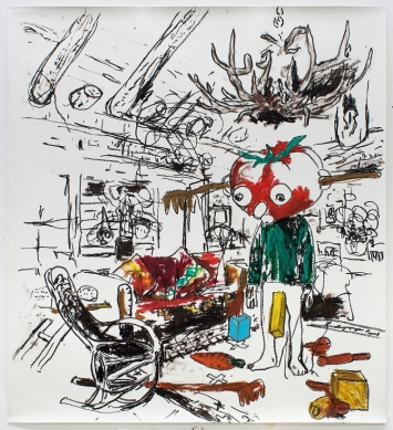 Stéphane Ducret, Drawing Number 1 (#PaulMcCarthy), 2021