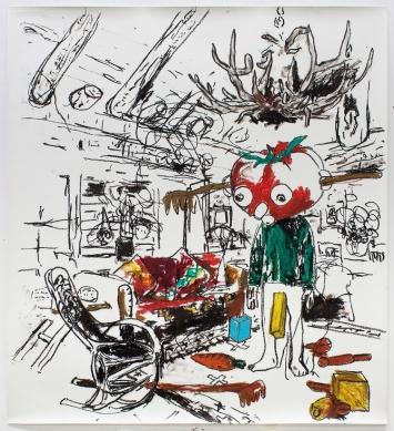 Stéphane Ducret, Drawing Number 1 (#PaulMcCarthy), 2021