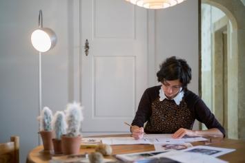 Su-Mei Tse, Atelieraufnahme Berlin, 2020, Courtesy Mudam, Luxemburg.Foto: Eric Chenal