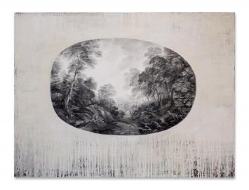 Sue Williams A'Court, Desire & Longing 21, Grafit und Öl auf Leinwand, 2017
