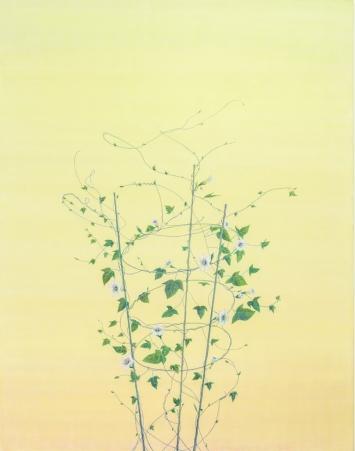 Tami Ichino,‹Grimpante›, 2017, Acryl auf Leinwand, 230 x 180 cm