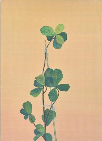 Tami Ichino,‹Vue vers le haut (Appui)›, 2018, Acrylfarbe auf Leinwand, 180 x 130 cm