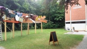 Reto Leibundgut, ‹rundschau›, 2019, temporäres Kunstprojekt, Schadaupark Thun