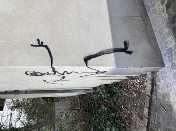 Graffiti «Totentanz», Harald Naegeli Foto: Manuela Hitz