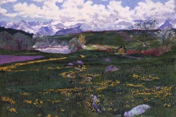 Giovanni Giacometti, Primavera (Bergeller Frühlingslandschaft), 1901