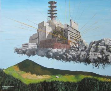 föfö Michael Föhn - «Tschernobyl everywhere», Malerei auf Leinwand
