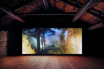 An Invitation to Disappear, 2018, Einkanalvideoinstallation, Klanglandschaft, 76'44'' (Loop) © ProLitteris, Courtesy Galerie Tschudi, Zuoz