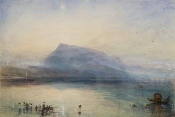 Joseph Mallord William Turner, The Blue Rigi, Sunrise, 1842, Aquarell auf Papier, 29.7 x 45 cm, © Tate, London, 2019