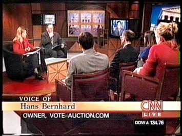 Ubermorgen.com · Vote Auction, 2000, Screenshot