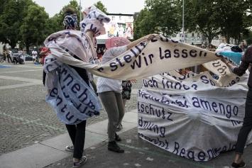 verein für um_ordnung in Koproduktion mit Gessnerallee Zürich, die grosse um_ordnung, Mai 2018, politische Kunstaktion. Foto: Yvon Baumann.