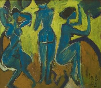 Walter Becker, Terzett II, 1968, Ölfarben auf Leinwand, (c) Walter Becker