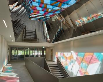 wiedemann/mettler, «Stairway to Heaven», 2017, Sportzentrum Heuried, Fachstelle Kunst und Bau, Amt für Hochbauten, Stadt Zürich, Foto: Theodor Stalder