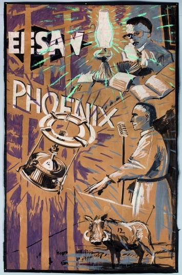 Zeichnungen für ‹Sophiatown›, 1998, Gouache auf Papier, 378x173cm.Foto: Thys Dullaart