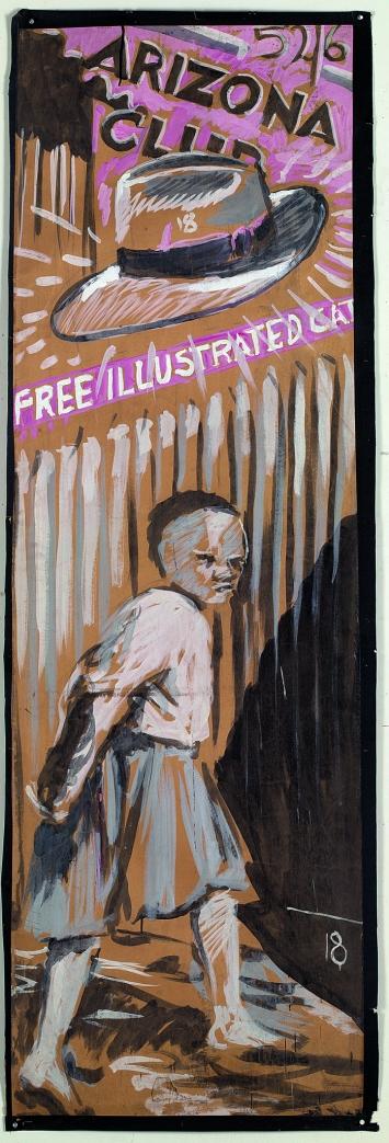 Zeichnungen für ‹Sophiatown›, 1998, Gouache auf Papier, 223x75cm.Foto: Thys Dullaart