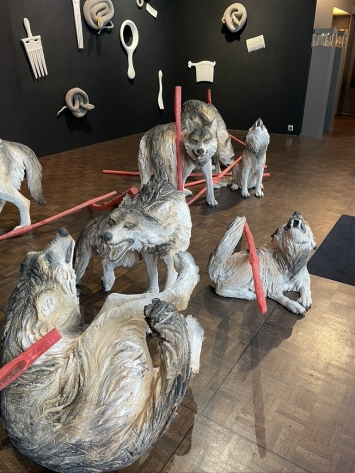 Wolfsrudel Rochus Lussi Installation