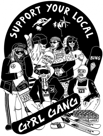 Ziska Bachwas   Support your local girl gang   illustration 2020